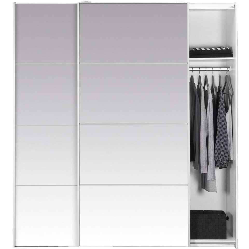 Schuifdeurkast verona spiegel 200x182x64 cm for Kledingkasten outlet