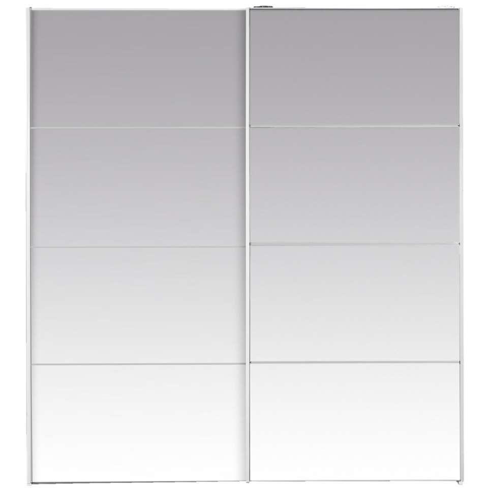 Schuifdeurkast Verona - spiegel - 200x182x64 cm - Leen Bakker