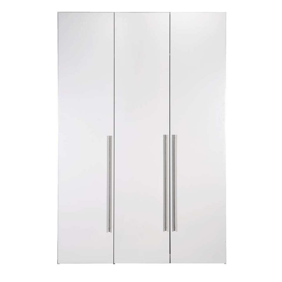 Kledingkast Bergen 3-deurs - wit - 219x147x59,5 cm - Leen Bakker