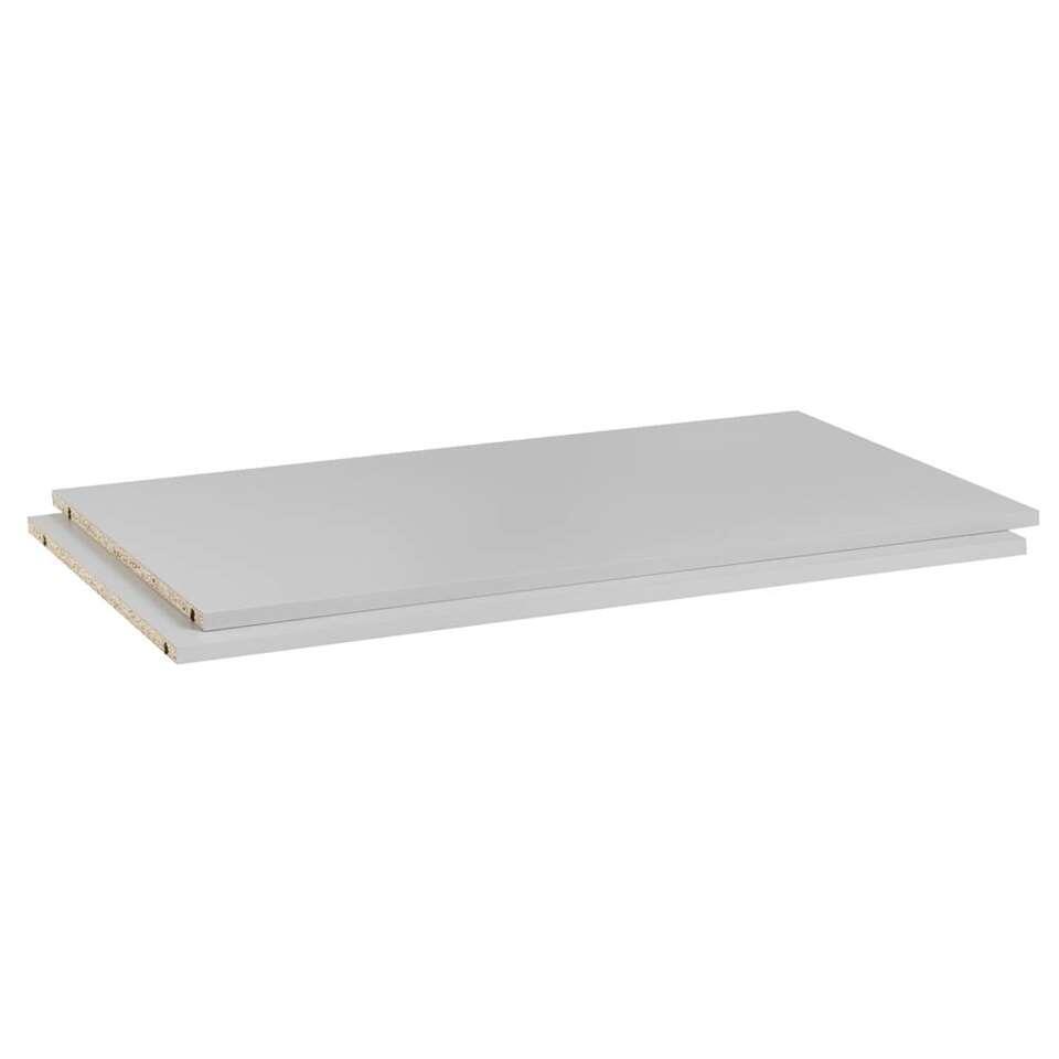Legplankenset Bergen (2 stuks) - lichtgrijs - 1,8x95,5x56 cm - Leen Bakker