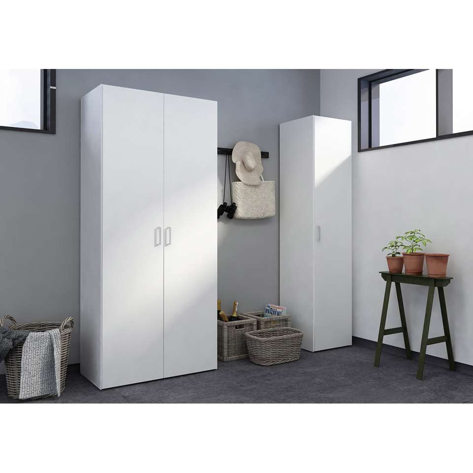 Kledingkast space 1 deurs wit 175 4x39 4x41 5 cm for Kledingkasten outlet