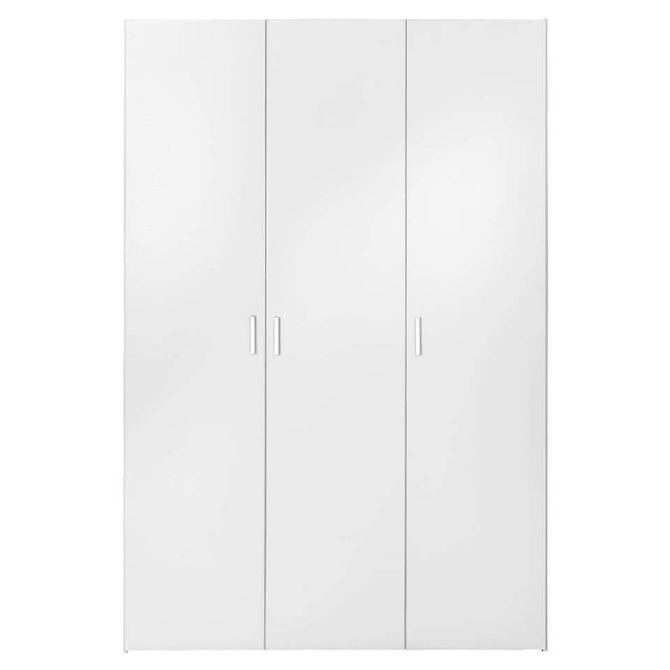 Kledingkast Space 3-deurs - wit - 175,4x115,8x49,5 cm - Leen Bakker