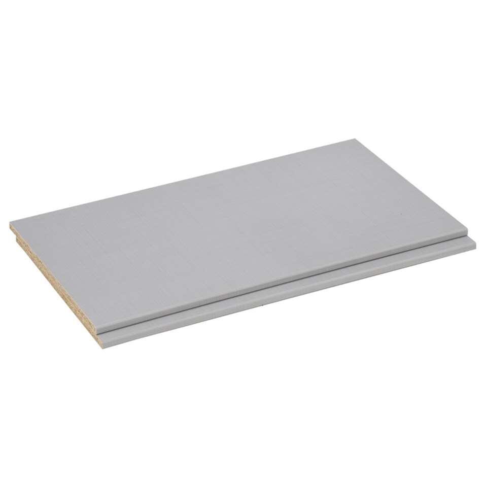 Legplankenset Geneve (2 stuks) - lichtgrijs - 87 cm - Leen Bakker