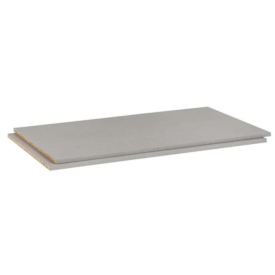 Legplankenset Dex (2 stuks) - grijs - 87 cm