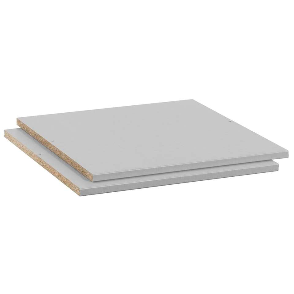 Legplankenset Tirana (2 stuks) – grijs – 50 cm – Leen Bakker