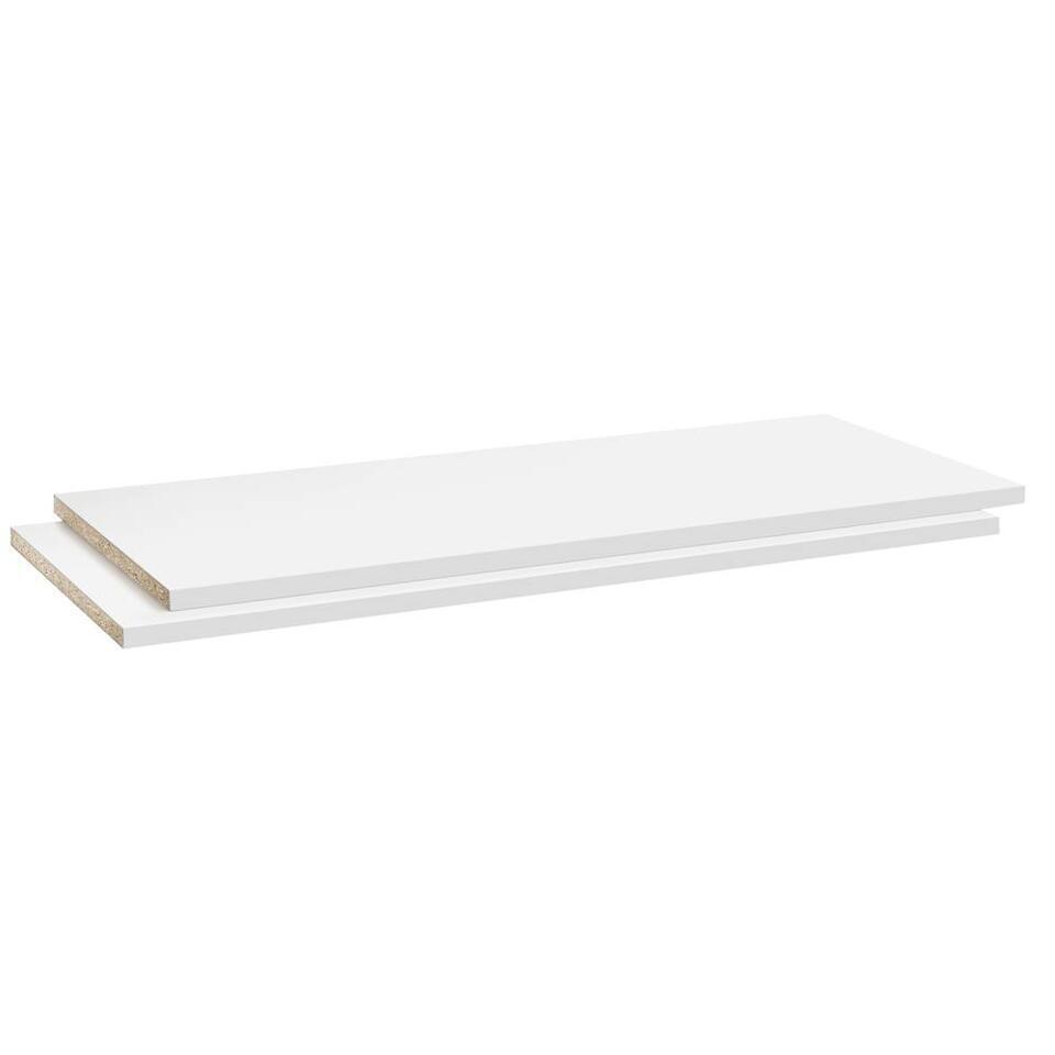 Legplankenset Reims (2 stuks) - wit - 105 cm - Leen Bakker