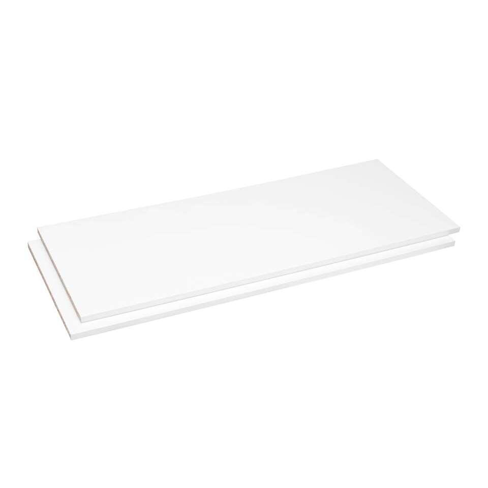 Legplankenset Sprint (2 stuks) - wit - 94,5 cm - Leen Bakker