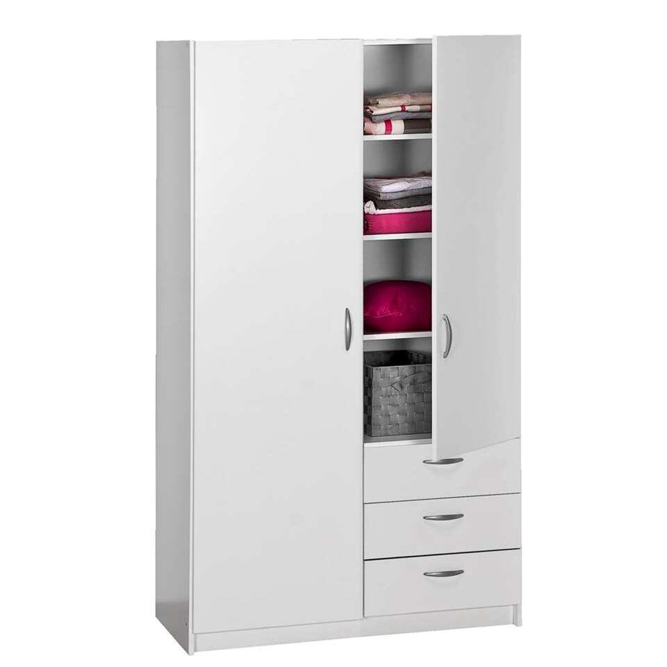 Kledingkast varia 2 deurs wit 175x98 5x49 5 cm for Kledingkasten outlet