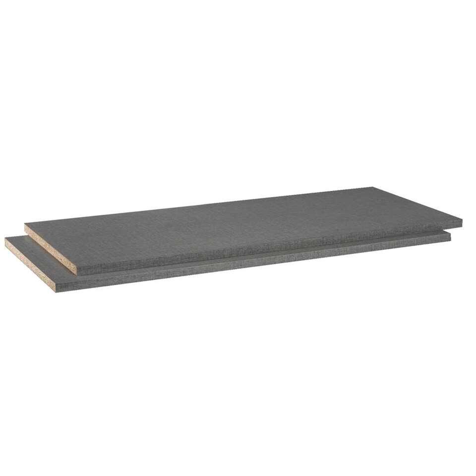 Legplankenset Napoli (2 stuks ) - grijs - 105 cm