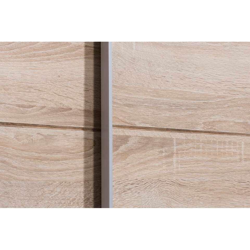 Schuifdeurkast calais eikenkleur 195 5x125x38 cm for Kledingkasten outlet