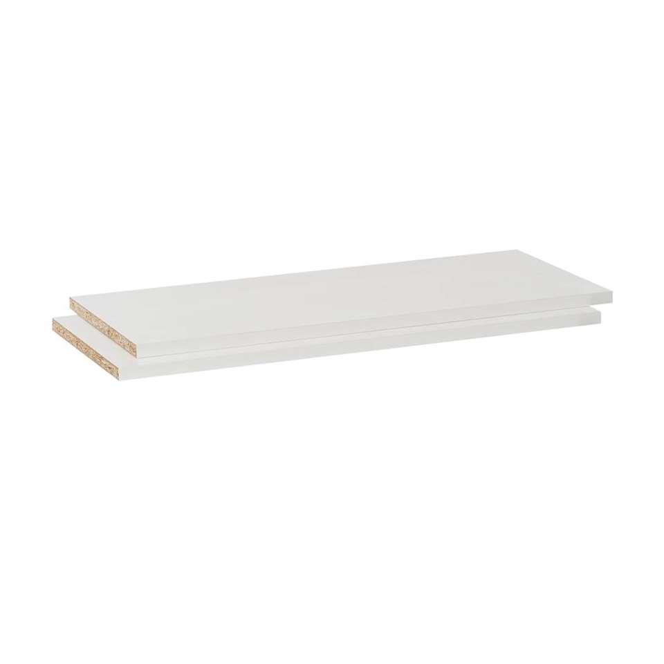 Legplankenset Calais (2 stuks) - wit - 60 cm
