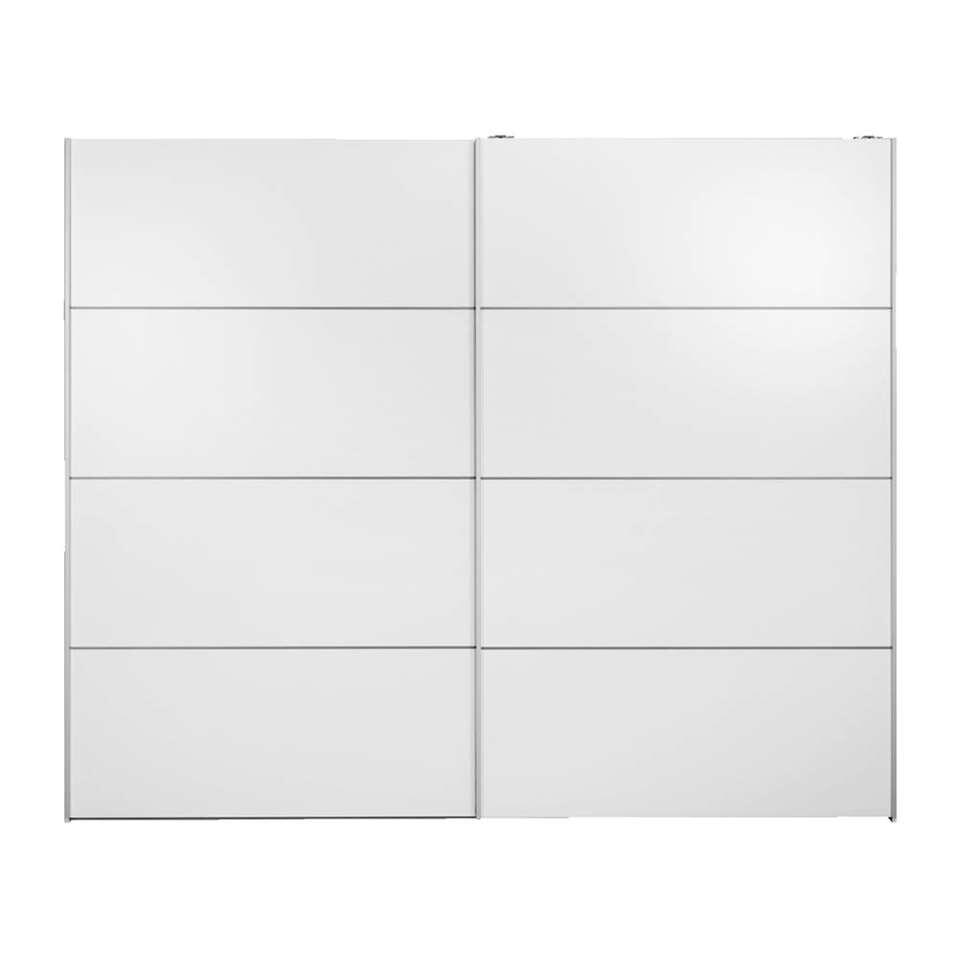 Schuifdeurkast Verona XL - wit - 200,4x242,7x59 cm