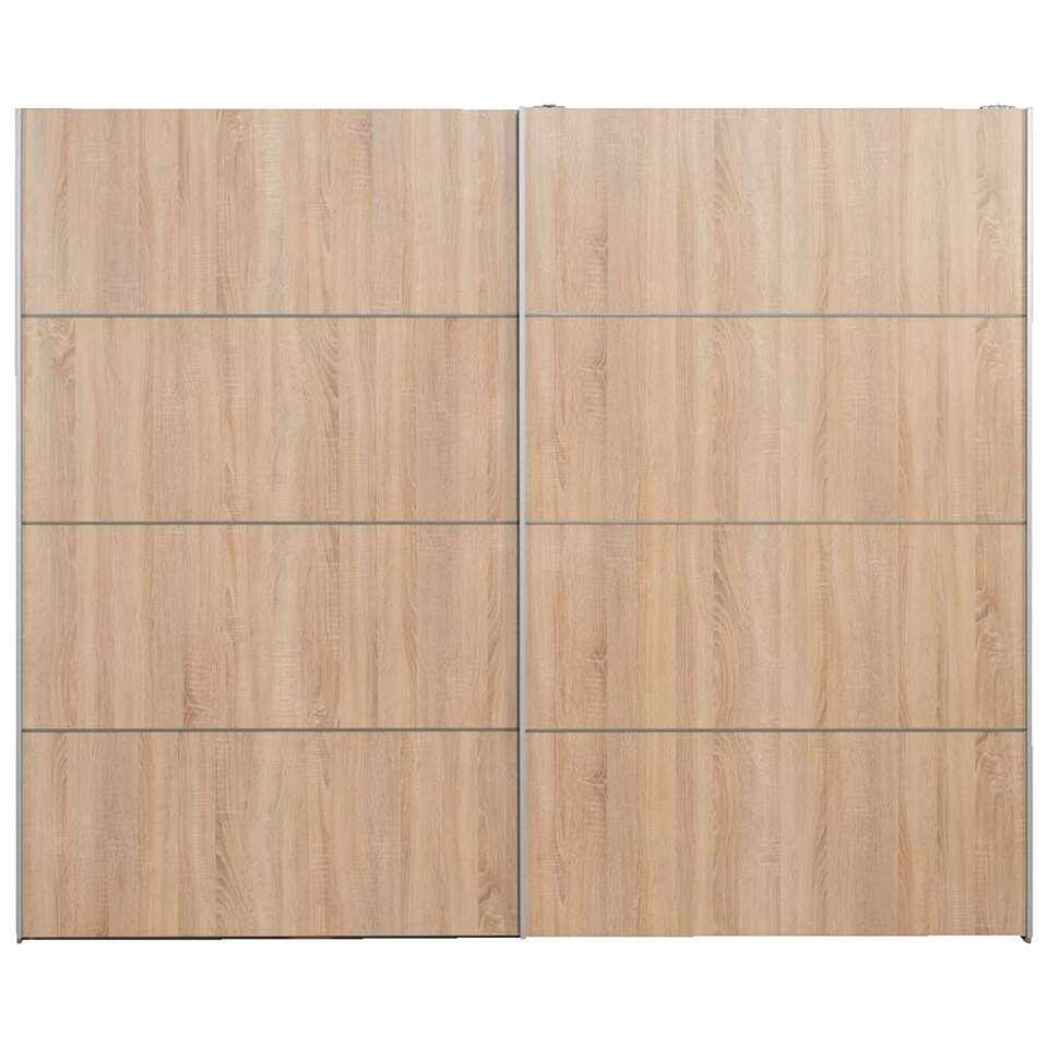 Schuifdeurkast Verona XL - eikenkleur - 200,4x242,7x59 cm