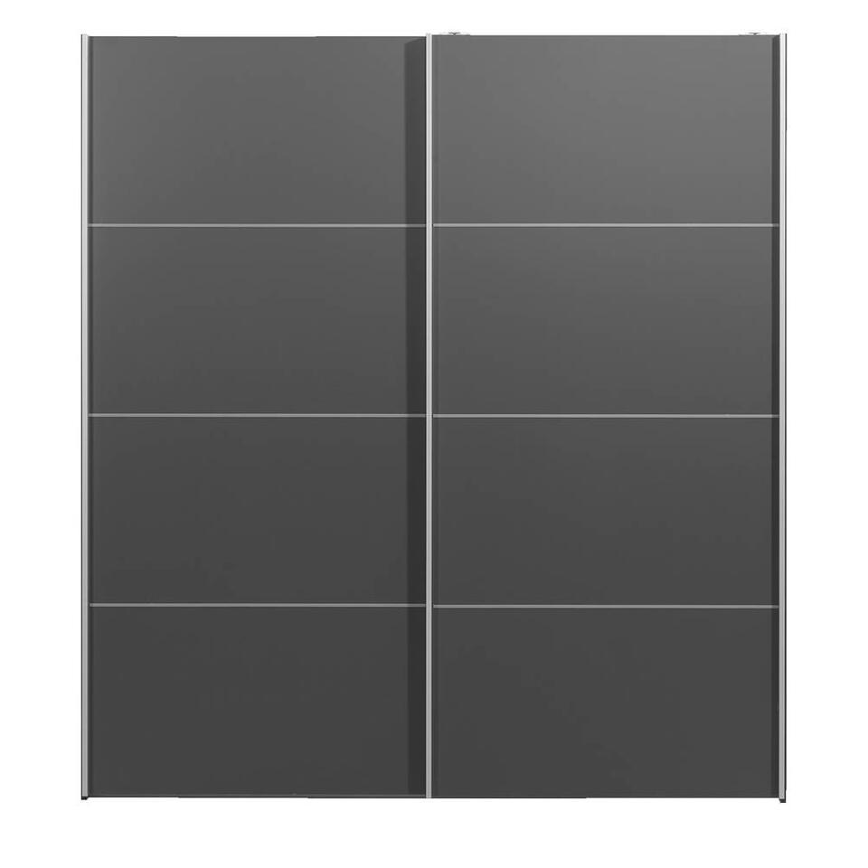 Schuifdeurkast Verona antraciet - antraciet - 200x182x64 cm
