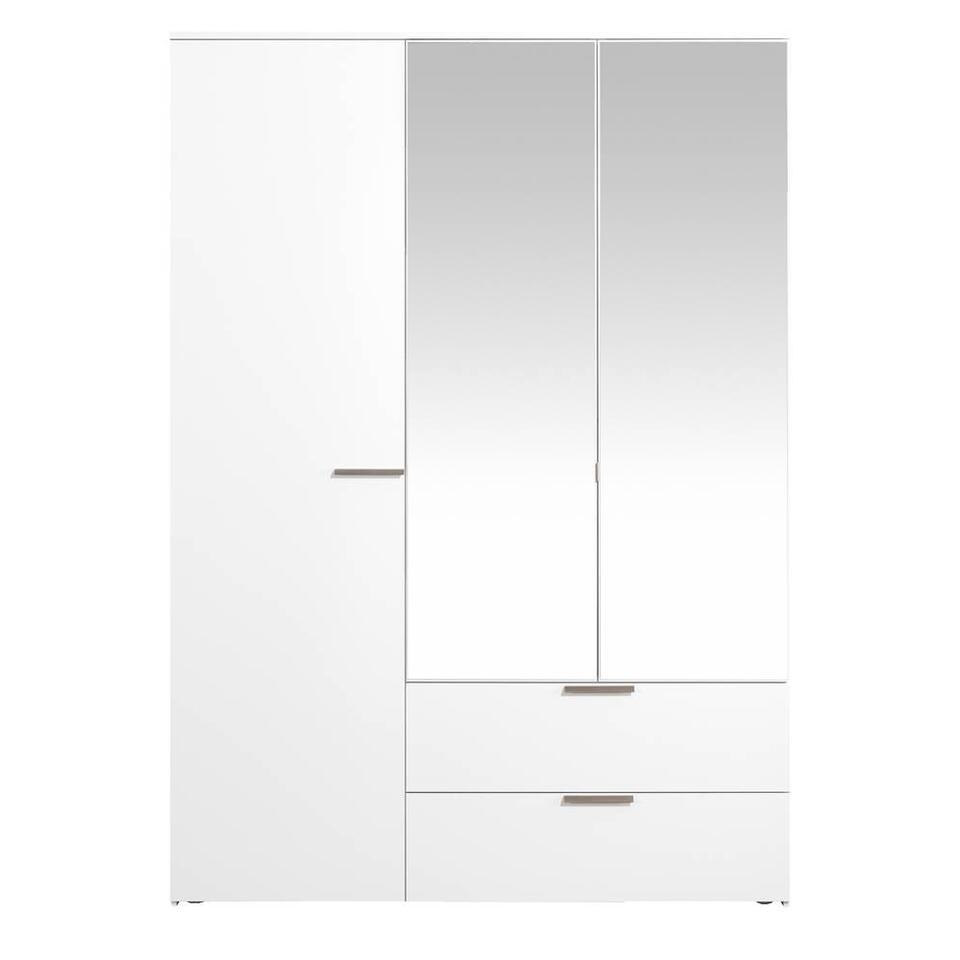 Kledingkast Tempo hoogglans wit softclose - 230x161x54 cm