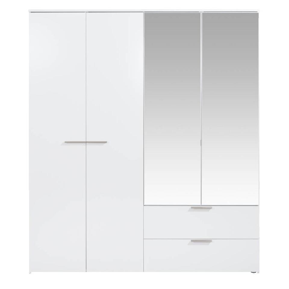 Kledingkast Tempo - hoogglans wit softclose - 230x200x54 cm