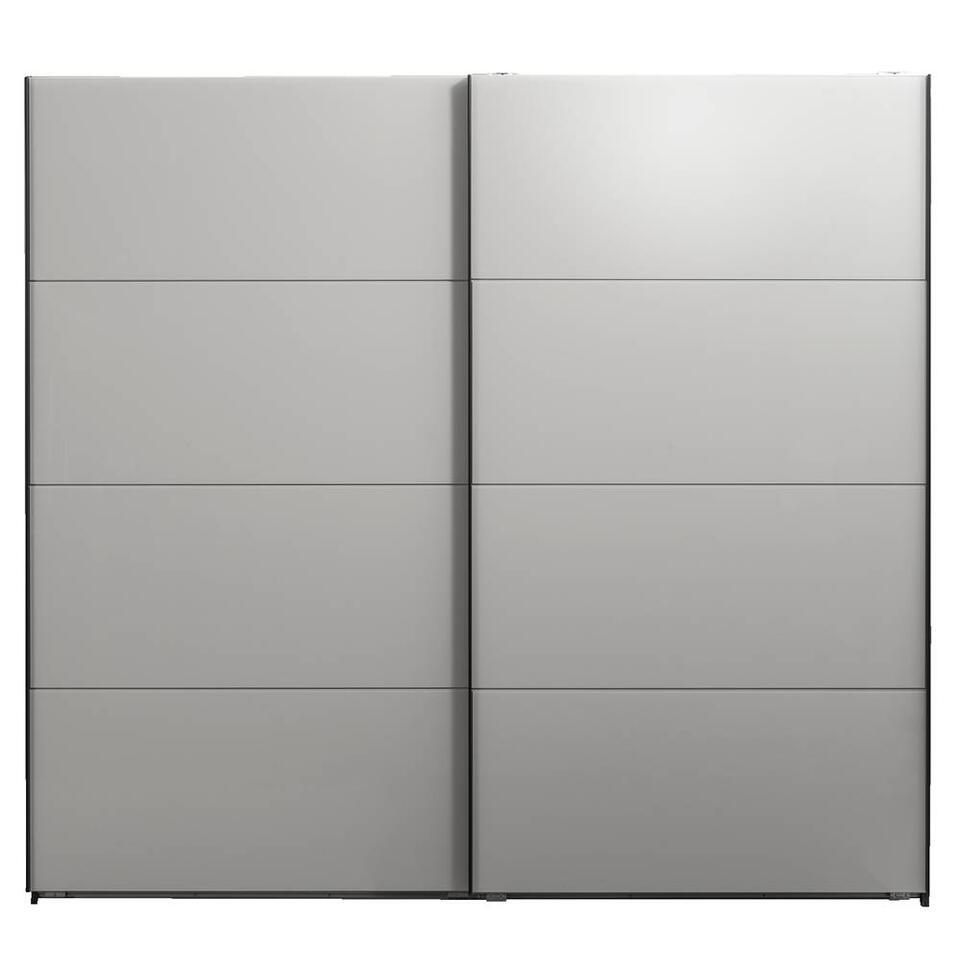 Schuifdeurkast Dallas antraciet/grijs softclose - 210x225x65 cm