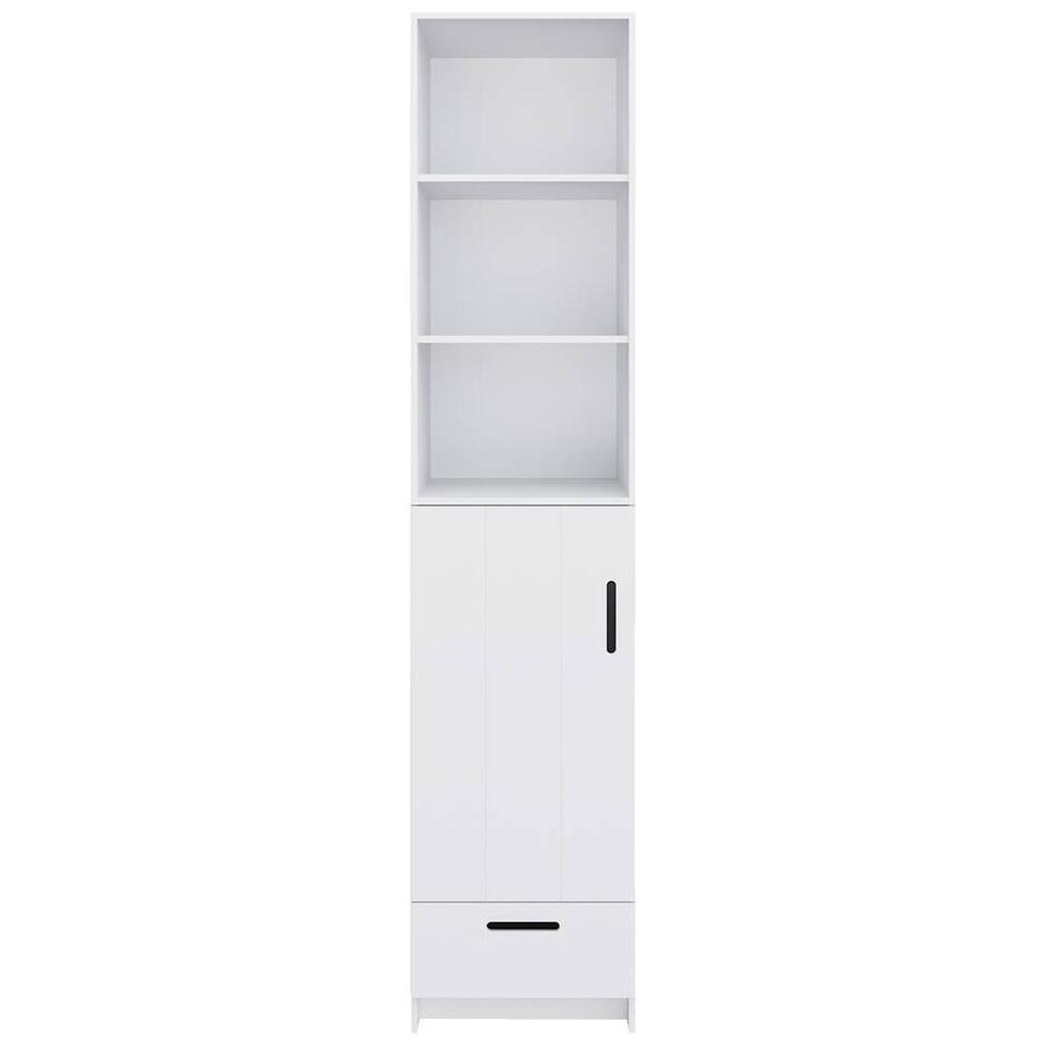 Pure XL by Woood kledingkast Locker - wit - 215x48x60 cm - Leen Bakker
