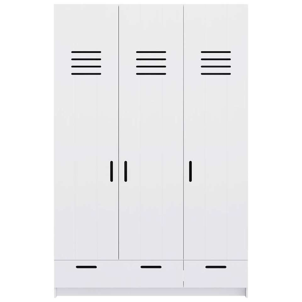 Wonderlijk Pure XL by Woood kledingkast Locker - wit - 215x142x60 cm GO-67