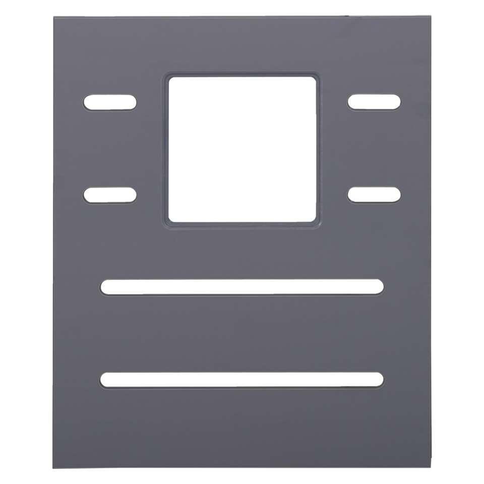 Hutwand Ties - antraciet - met raam (2 stuks)
