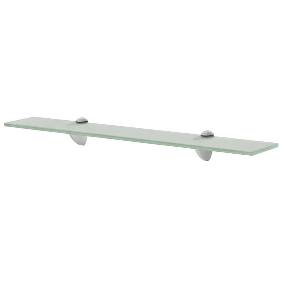 VIDAXL Zwevend - schap - 60x20 cm - 8 mmvglas