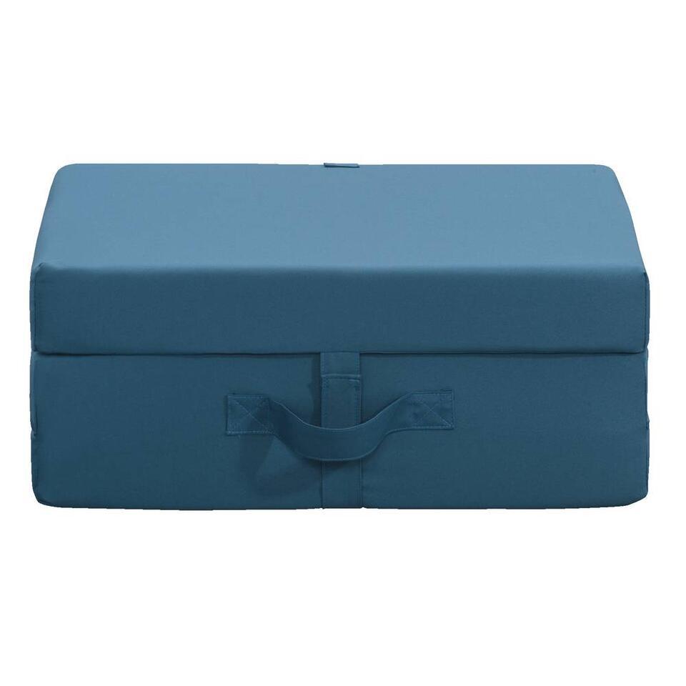 Opvouwbaar matras Rumba - blauw - 70x190x9 cm - Leen Bakker