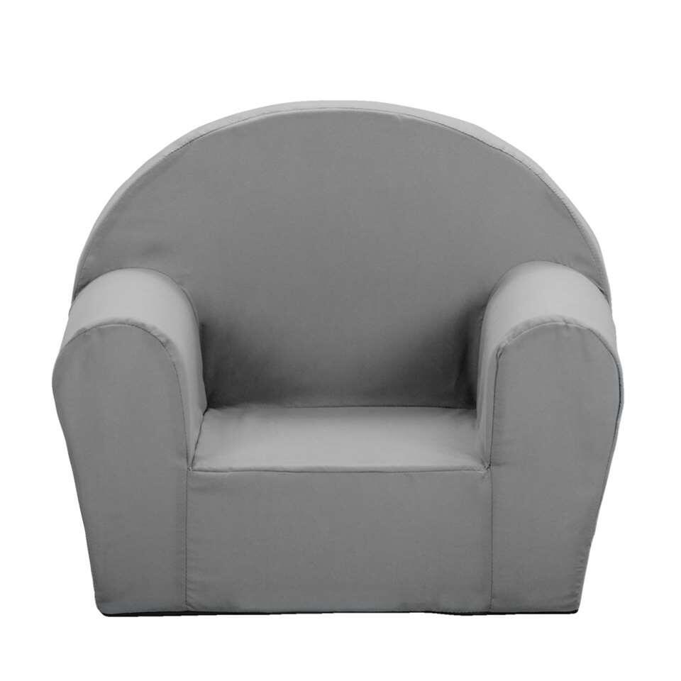 Deze eigentijdse stoel voor kinderen heeft een eigentijdse look en is antraciet grijs van kleur. Deze zachte fauteuil is 44x53x36 (hxbxd).