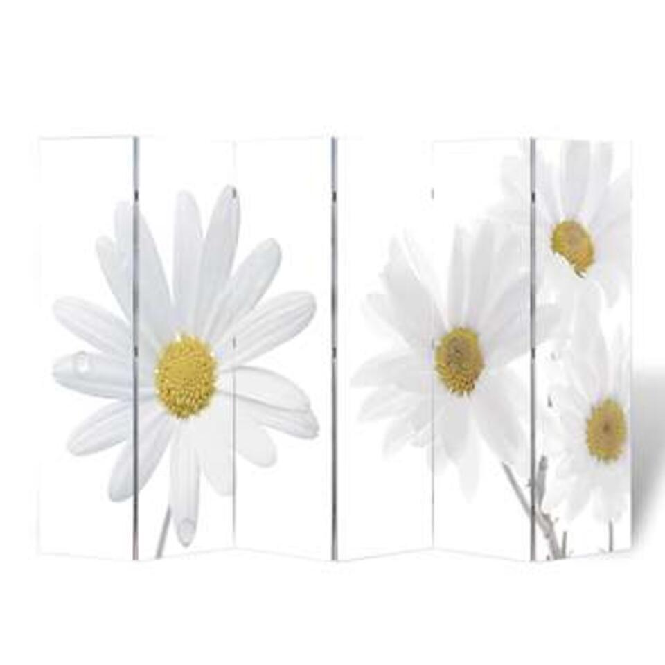 VIDAXL Kamerscherm - inklapbaar - bloem - 240x170 cm