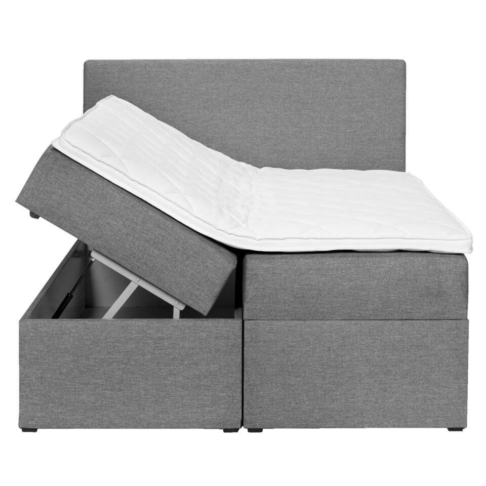 Bed Met Opbergruimte Leenbakker.Boxcombinatie Varena Grijs 160x200 Cm