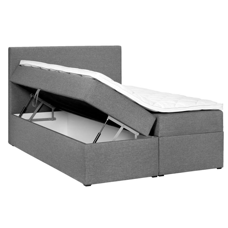 Boxcombinatie varena grijs 160x200 cm for Boxspring kasten