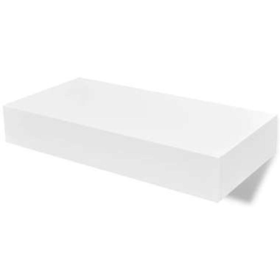 VIDAXL Wandplanken - zwevend - met lades - 2 st - 48 cm - wit