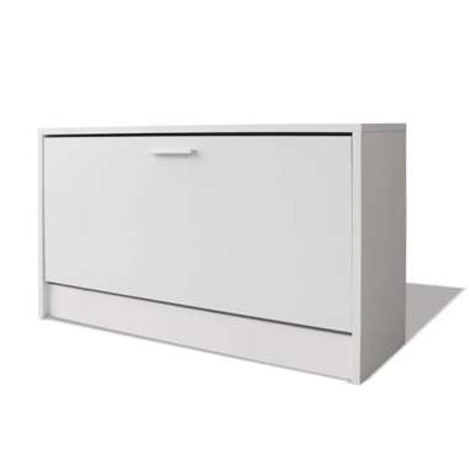 VIDAXL Schoenen - opbergkast - 80x24x45 cm - wit
