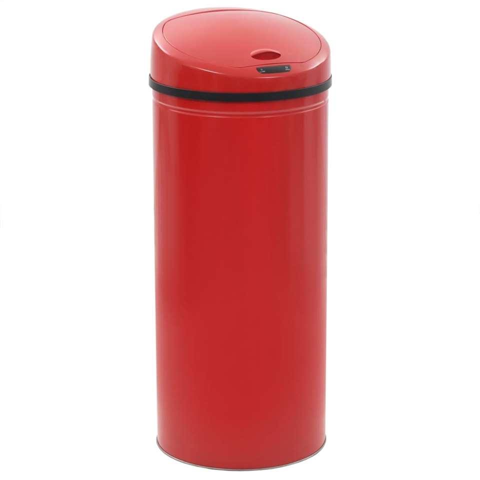 VIDAXL Sensorprullenbak - 62 L - rood