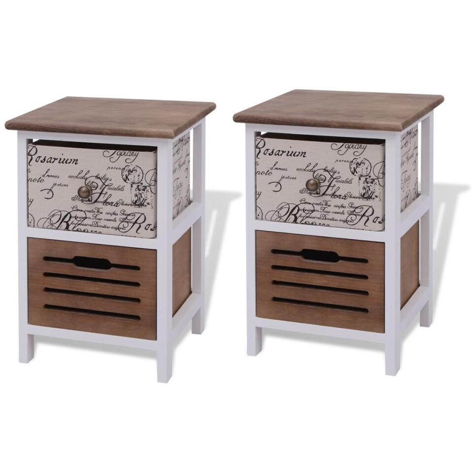 VIDAXL nachtkastjes - 2 stuks - hout