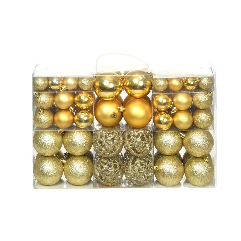 vidaXL Kerstballenset - 6 cm - goud - 100-delig