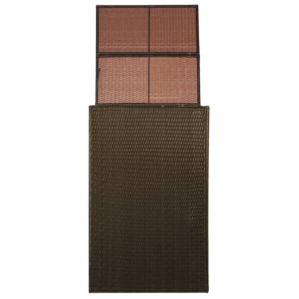 vidaXL Enkele containerberging enkel - 76x78x120 cm - poly rattan - bruin