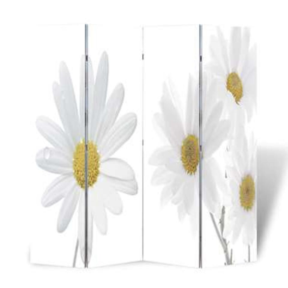 VIDAXL Kamerscherm - inklapbaar - bloem - 160x170 cm