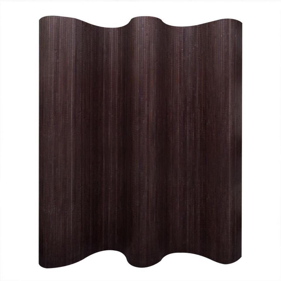 VIDAXL Kamerscherm - donkerbruin - bamboe - 250x165 cm