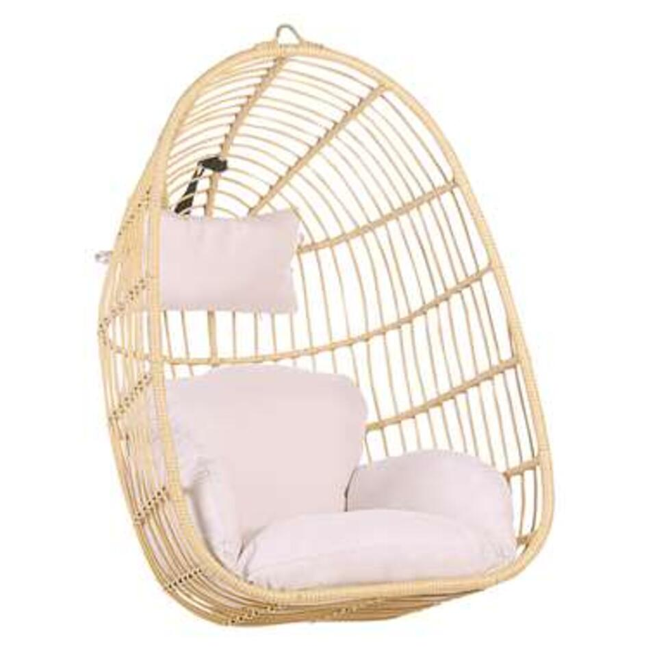 Beliani Hangstoel CASOLI - beige wicker