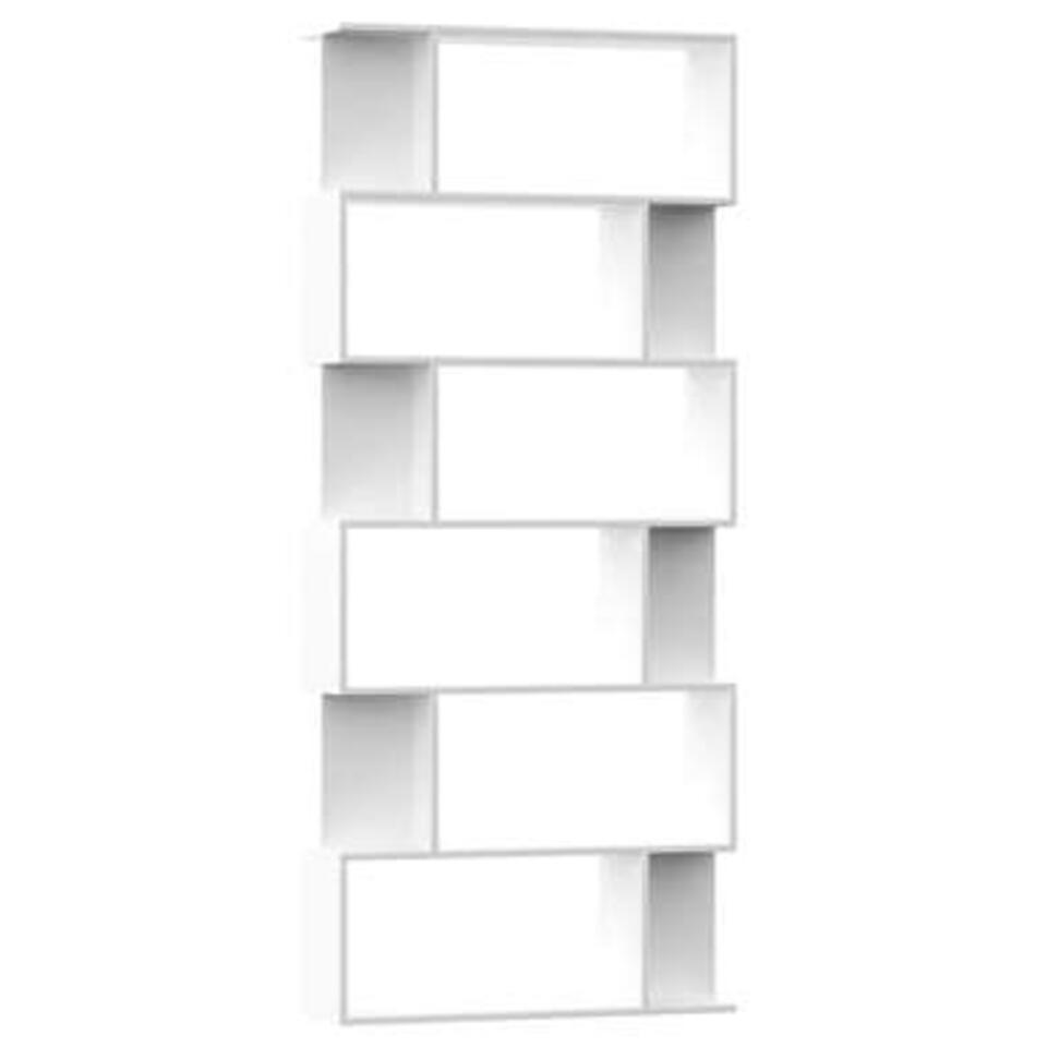 VIDAXL - Boekenkast/kamerscherm - 80x24x192 cm - spaanplaat - wit