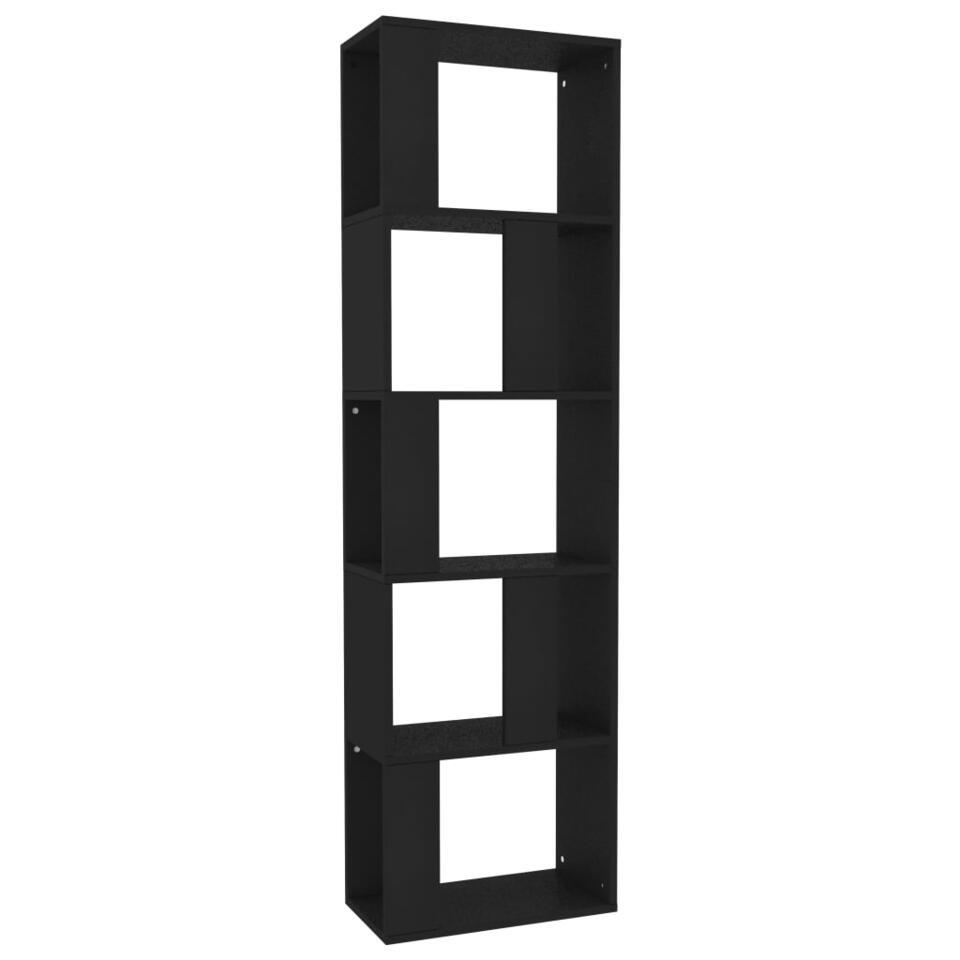 VIDAXL - Boekenkast/kamerscherm - 45x24x159 cm - spaanplaat - zwart
