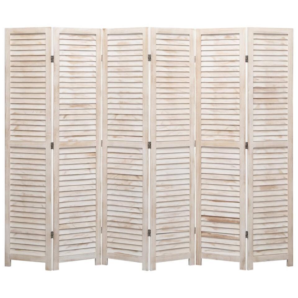 VIDAXL Kamerscherm - met 6 panelen - 210x165 cm - hout