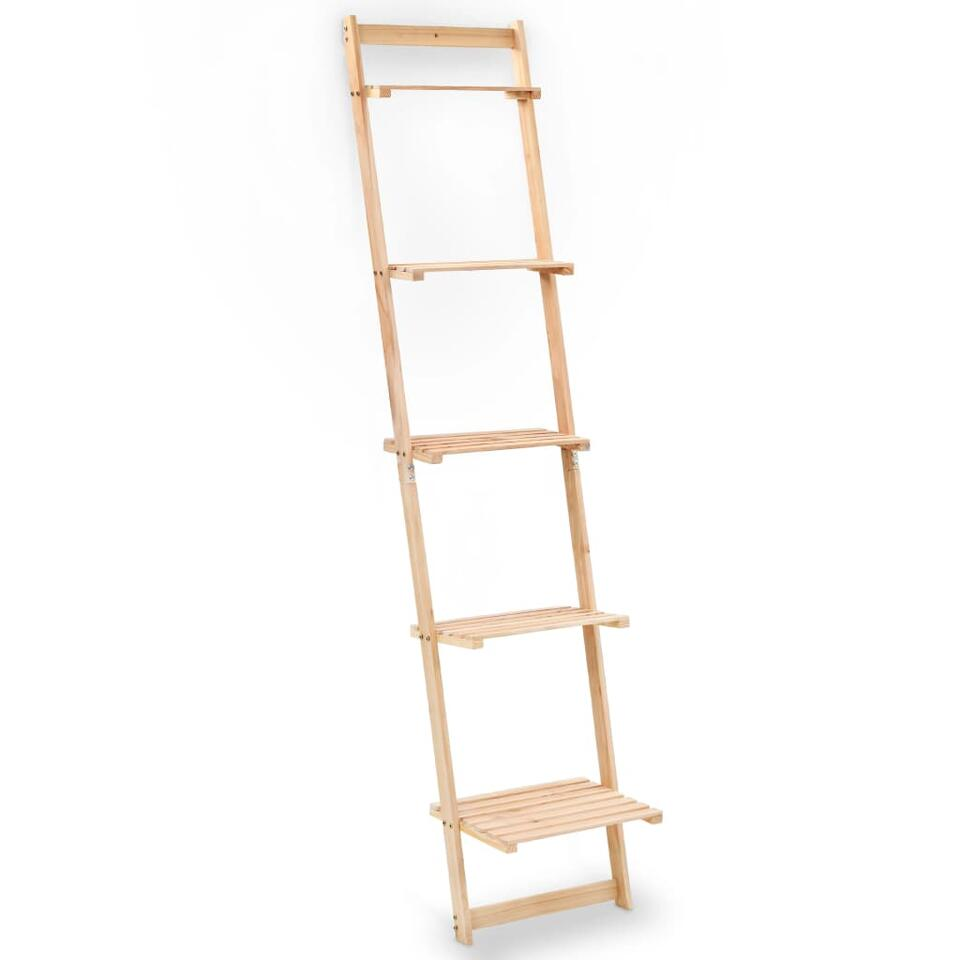 VIDAXL Wandrek - ladder - 41,5x30x176 cm - cederhout