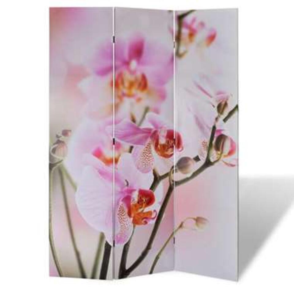 VIDAXL Kamerscherm - inklapbaar - bloem - 120x170 cm