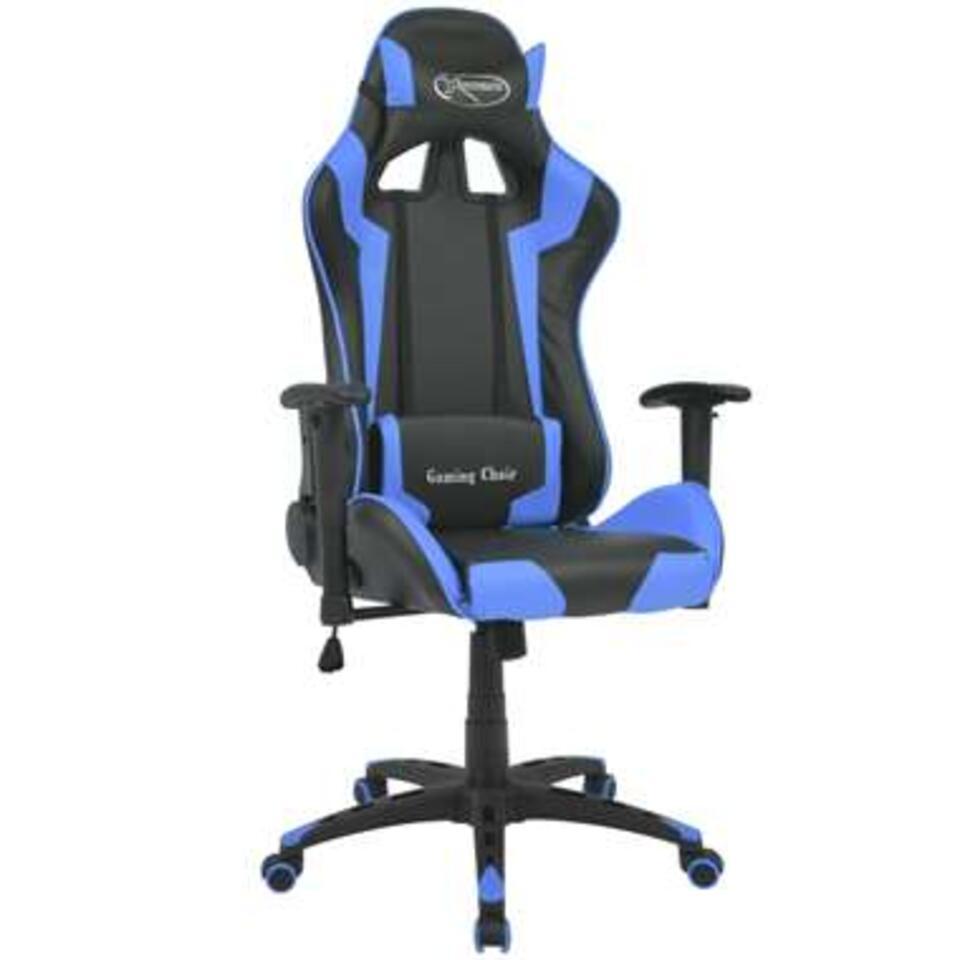 VIDAXL Bureau-/gamestoel - verstelbaar - Xtreme - kunstleer - blauw