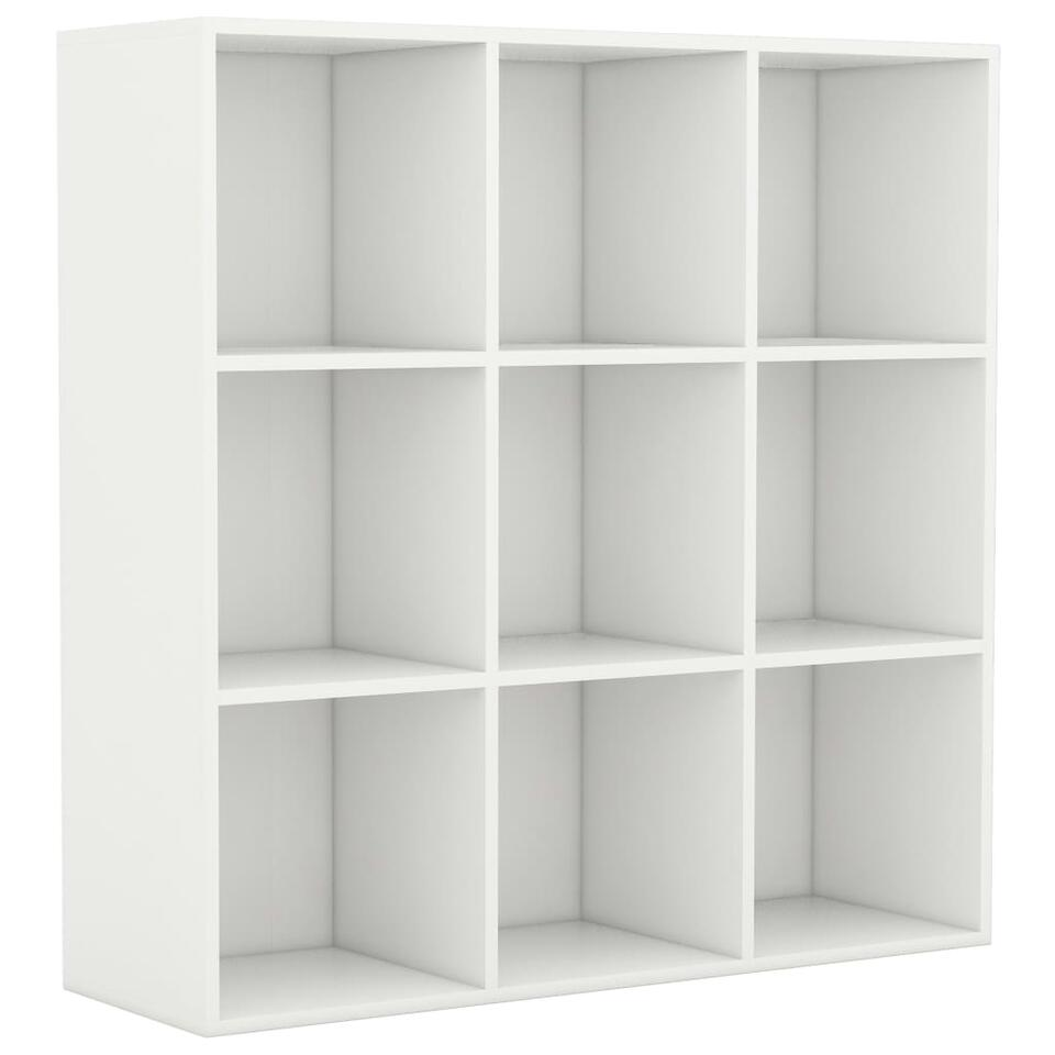VIDAXL - Boekenkast - 98x30x98 cm - spaanplaat - wit