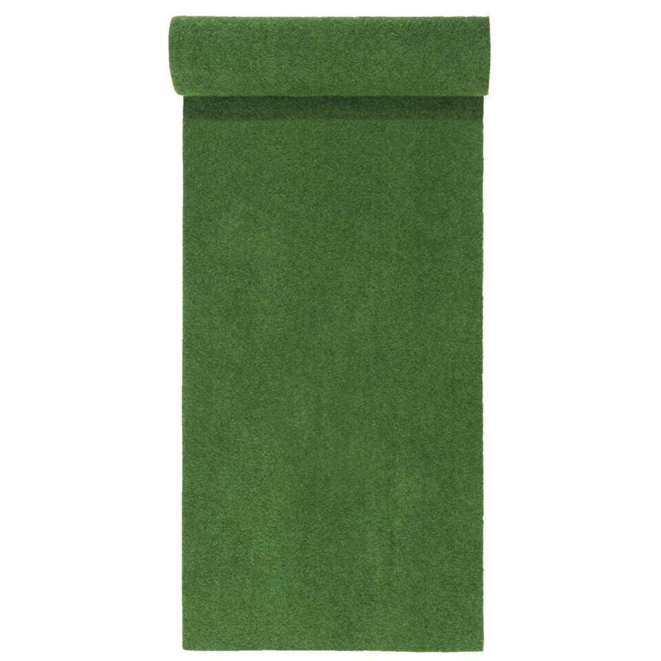 Grastapijt Savanne - groen - 133x400 cm