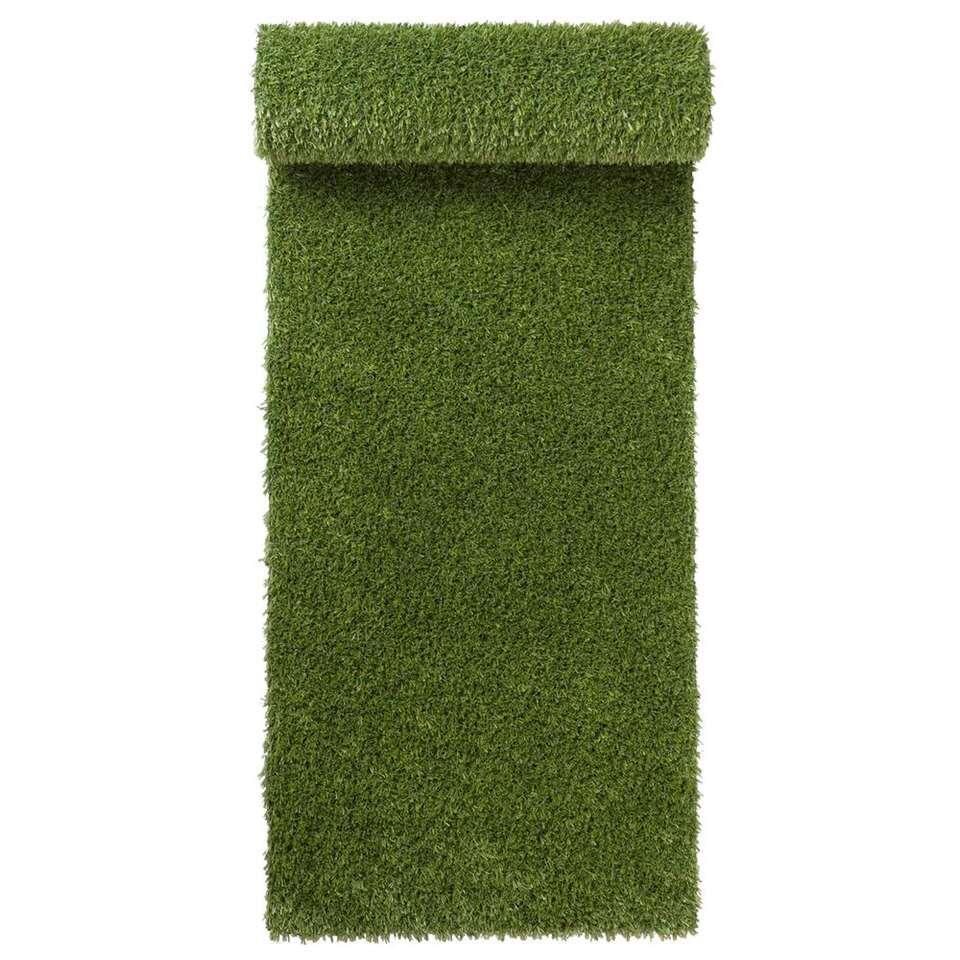 Grastapijt Sete - groen - 200 cm - Leen Bakker