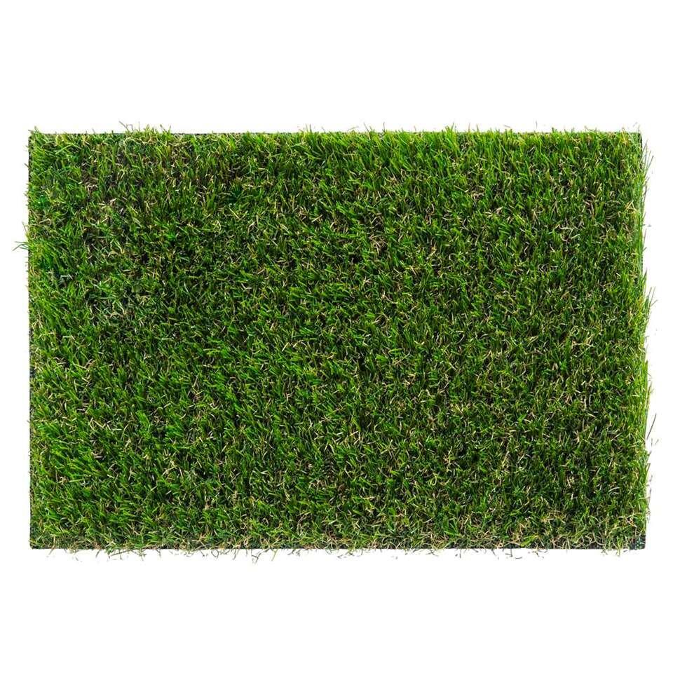 Grastapijt Hillrose - groen - 400 cm - Leen Bakker