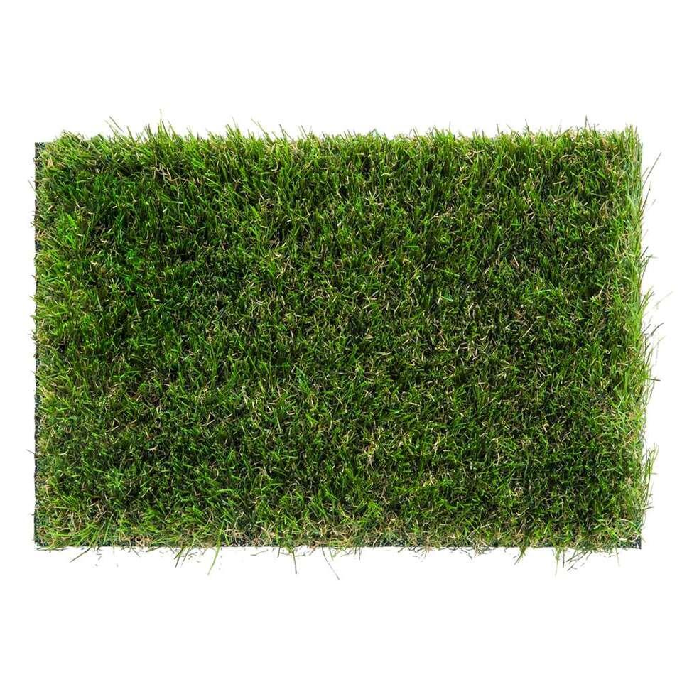 Grastapijt Prato - groen - 400 cm - Leen Bakker